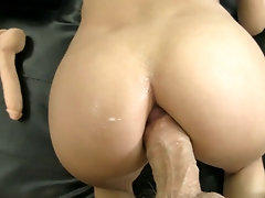 Sweet babe gets her arse rammed by huge monster cock