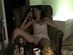 Drunk Brunette Teen With Juicy Natural Tits Passes Out and Gets Fucked